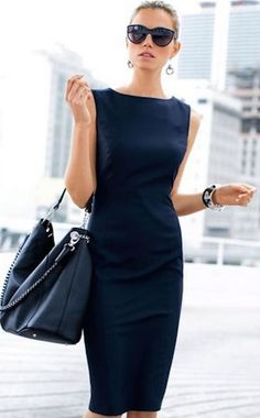 Madeleine Navy Dress More cute outfits for girls 2017 Mode Chic, Mode Style, Style Me, Fashion Mode, Look Fashion, Blue Fashion, Modern Fashion, Fashion Sites, Cheap Fashion