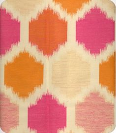 Pink orange and coral ikat  online fabric, lewis and sheron, lsfabrics