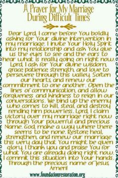 Marriage prayer during difficult times