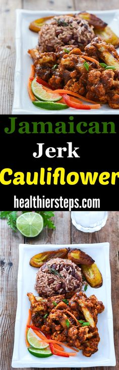 Jamaican Jerk Cauliflower is inspired by the popular Jamaican Jerk dishes.Cauliflower florets are seasoned and baked, then smothered in homemade Jamaican Jerk Sauce that