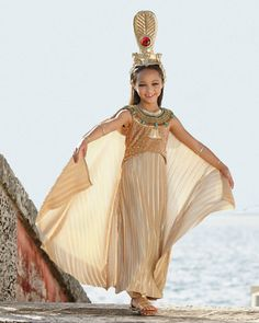 golden cleopatra girl costume