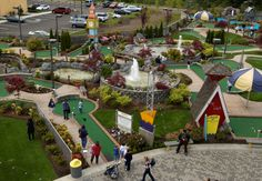 check out that mini golf course at the Family Fun Center in Seattle Southside. Must...make...par!