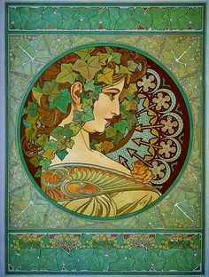 """Ivy"" - Alphonse Mucha (1860-1939)"