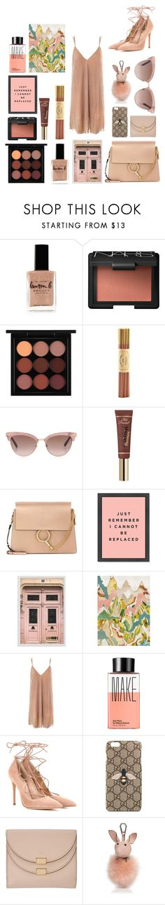 """""""🇱🇻"""" by mictlantecuhtli ❤ liked on Polyvore featuring Lauren B. Beauty, NARS Cosmetics, MAC Cosmetics, Fine & Candy, Gucci, Disney, Chloé, Pottery Barn, Sans Souci and Make"""