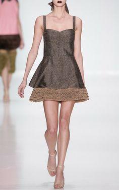 Two-Tone Bustier Mini Dress by Ruban for Preorder on Moda Operandi