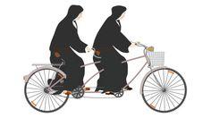 Monjas en bicicleta