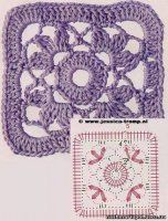 It is a website for handmade creations,with free patterns for croshet and knitting , in many techniques & designs. Granny Pattern, Crochet Coaster Pattern, Crochet Motif Patterns, Crochet Blocks, Crochet Diagram, Crochet Chart, Crochet Squares, Crochet Granny, Free Crochet