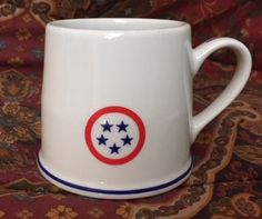 Mayer China by Interpace mug.  Admirals Club (American Airlines) furnished by Minners & Company New York City.  Date code 272 ( Apr - Jun 1972).