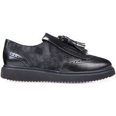 Geox Thymar (3 565 UAH) ❤ liked on Polyvore featuring shoes, loafers, black and anthracite, moccasins & lace ups, loafers moccasins, moccasin style shoes, moccasin shoes, geox shoes and black lace up shoes