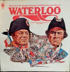 "Waterloo  12"" Vinyl Lp MINT Original Soundtrack (1971 music Nino Rota) Epic Historical Film starred Rod Steiger; Collectible Film Scofre LP"
