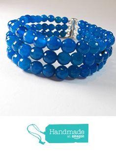 Armband Blauachat 3reihig von der schmuckbewusst…