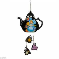 Disney Parks Alice in Wonderland Mad Hatter Teapot Teacups Wind Chimes New | eBay