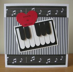"...And now for something a little bit different!   I made some ""music themed "" cards for this month's  Cardmaking and Papercraft magaz..."