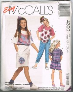Uncut Pattern  Girls Tops Shirt Pants Shorts  by NeesysOtherLife