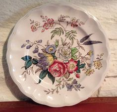 Copeland Spode/Great Britain/Gainsborough/Ornamental Floral Plate. by MerryLegsandTiptoes on Etsy