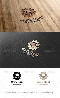 Work Deal Logo — Vector EPS #professional #partners • Available here → https://graphicriver.net/item/work-deal-logo-/6031517?ref=pxcr