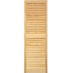 louvered shutters pair unfinished unfinished pine - Shutters Home Depot
