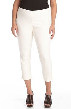 Karen Kane Stretch Capri Pants (Plus Size) available at #Nordstrom