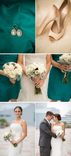 Classic Teal Fall Waterfront Wedding in Virginia - WeddingWire: The Blog