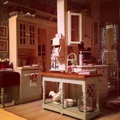 Lovely kitchen by Kim's Miniatures.