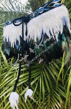 Ladies Feather Cloak - NZ made Korowai by Ngapuhi Kuia & Auckland Artist Jinny Thomas