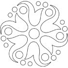 Coloriage abstrait rond Stencil Patterns, Mosaic Patterns, Beading Patterns, Embroidery Patterns, Stencils, Metal Embossing, Outline Drawings, Glazes For Pottery, Stained Glass Patterns