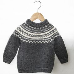 Vintage Classic - Noah Opskrifter Go Ha - Diy Crafts - Marecipe Fair Isle Knitting Patterns, Fair Isle Pattern, Sweater Knitting Patterns, Sewing Baby Clothes, Knitted Baby Clothes, Baby & Toddler Clothing, Diy Crafts Knitting, Knitting For Kids, Free Knitting