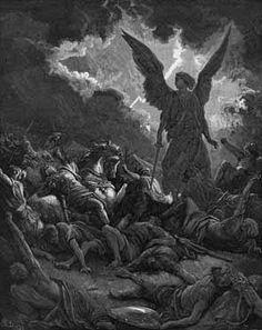 Destruction of the Army of Sennacherib - Gustave Dore Gustave Dore, Samael Angel, Satanic Art, Arte Obscura, Demonology, Angel Of Death, Angels And Demons, Bible Art, Paintings