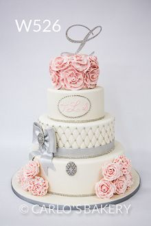 Panadería de la torta de la boda de Carlo, W526