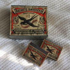 Oude verpakking Zwaluwlucifers uit eigen verzameling