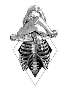 LessTalkMoreIllustration You are in the right place about tattoo drawings tiger Here we offer you th Tattoo Sketches, Tattoo Drawings, Drawing Sketches, Tattoos Motive, Body Art Tattoos, Dark Art Drawings, Pencil Drawings, Skeleton Art, Skeleton Anatomy
