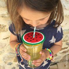 strijkkralen watermeloen - watermelon iron beads