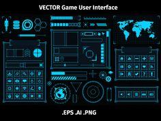2D scifi game GUI user interface menu
