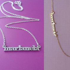 Mira este artículo en mi tienda de Etsy: https://www.etsy.com/es/listing/263984341/925-sterling-silver-mini-name-necklace