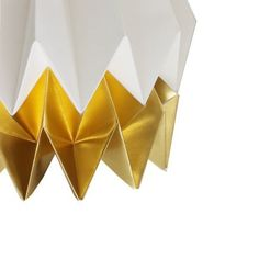 A simple gesture can make a big impact. Crafted from heavyweight Canson Mi-Teintes paper, Portuguese label blaanc's elegant Orikomi Lampshade Origami Techniques, Gold Paper, Grey Walls, Own Home, White Gold, White Interiors, Concept, Portugal, Projects