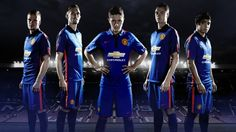 Jersey away blue Man. United