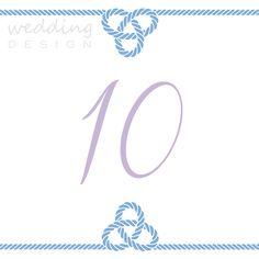 Sailing wedding theme, table number - Vitorlásos esküvő tematika, asztalszám Graphics/Grafika:Wedding Design