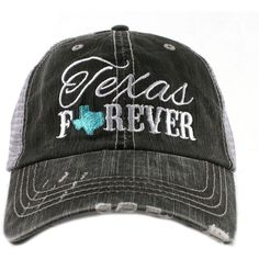 Women's Texas Forever Trucker Hat Mint ($25) ❤ liked on Polyvore featuring accessories, hats, trucker hat and truck caps