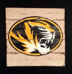 Mizzou Tigers Sign / University of Missouri by PalletsandPaint