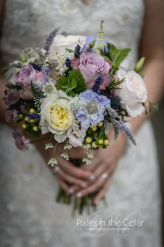 Lilac Pinks Rustic Wedding Bouquet