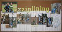 Gallery Search: ziplining scrapbook layout