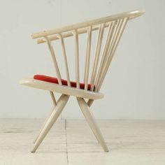 Crinolette chair by Ilmari Tapiovaara, labeled Asko 3