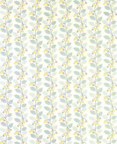 Yellow & Blue Vines Wallpaper | Spring Trail Duck Egg Wallpaper