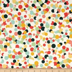 Riley Blake Fancy & Fabulous Confetti Cream from @fabricdotcom  Designed by Riley Blake, this cotton print fabric is perfect for quilts, home décor accents, craft projects and apparel. Colors include white, coral, green, teal and white.