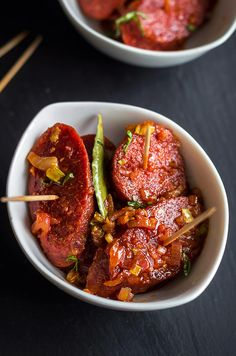 These apple cider glazed chorizo slices are easy, bite-size servings of tapas and make the ultimate Game Day appetizer! | eatwell101.com