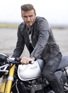 David Beckham said he tries to 'keep it simple' when buying clothes and relies on vintage jeans, t-shirts and leather biker jackets to ensure he's looking on-trend