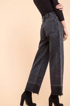 60369353776 Released Hem Wide Leg Jeans