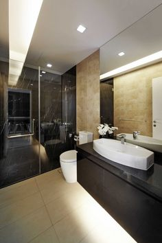 Tai Keng, Modern Landed House, Bathroom Interior Design.