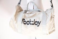 Vintage 1980's Duffel Bag  Foot  Joy  Gym by PomegranateVintage, $30.00