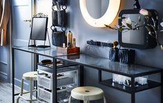 Make a hair and makeup station